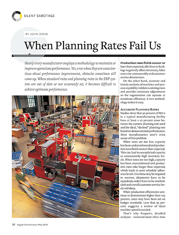 When Planning Rates Fail Us